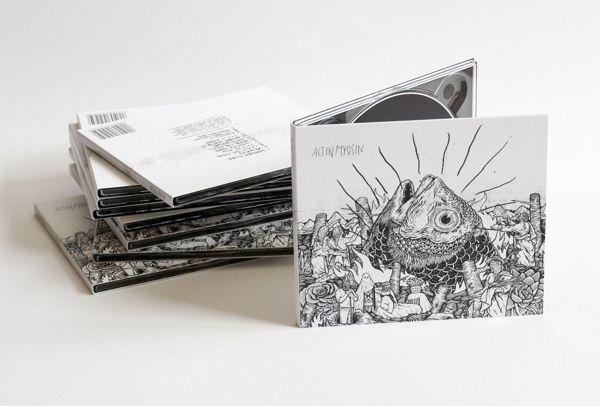 CD design for ACTIN MYOSIN by Johannes Stahl, via Behance