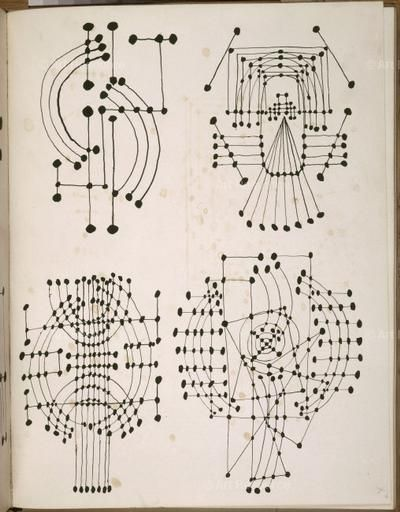 Picasso, Pablo (1881-1973) © ARS, NY  Constellation drawings. Carnet 30. Summer 1924. Pen & India ink. MP1869; folio 26 verso. Photo: Béatrice Hatala.