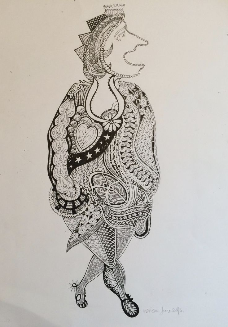 This is Estella ......... Hand drawn pen and ink on cartridge paper - A3