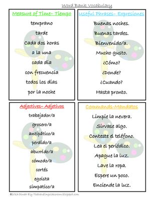 Beginning Spanish Mad Libs - Spanglish for the Dual Language Classroom