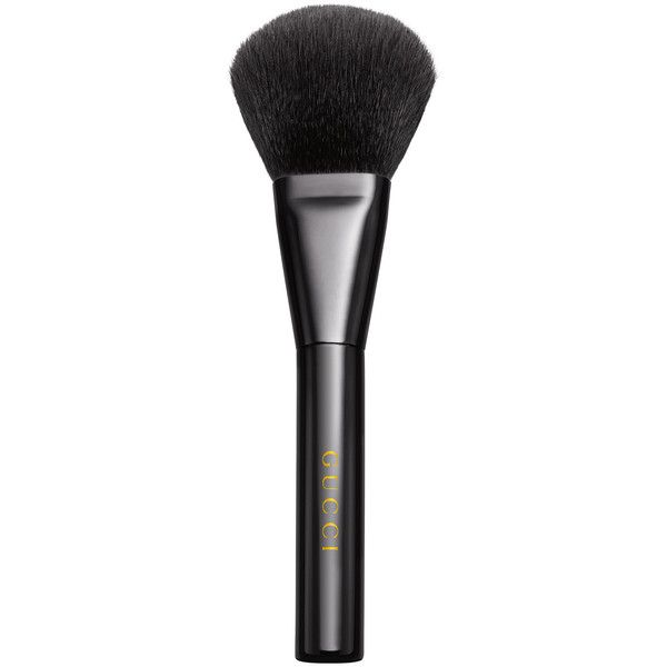 Gucci Powder Brush 10 ($82) ❤ liked on Polyvore featuring beauty products, makeup, makeup tools, makeup brushes, beauty, fillers, brushes, accessories, gucci beauty and powder brush