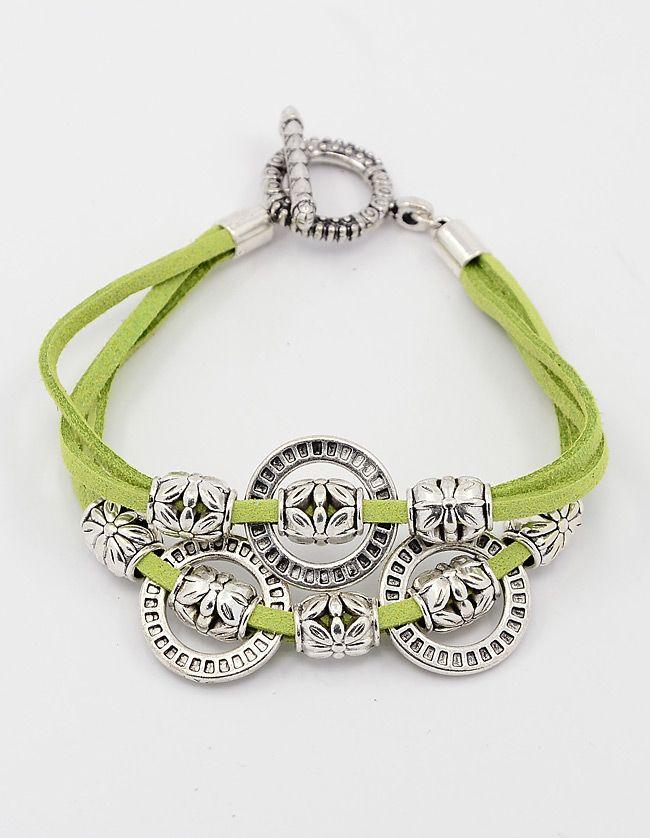 PandaHall Jewelry—Tibetan Style Bracelets with Faux Suede Cord | PandaHall Beads Jewelry Blog