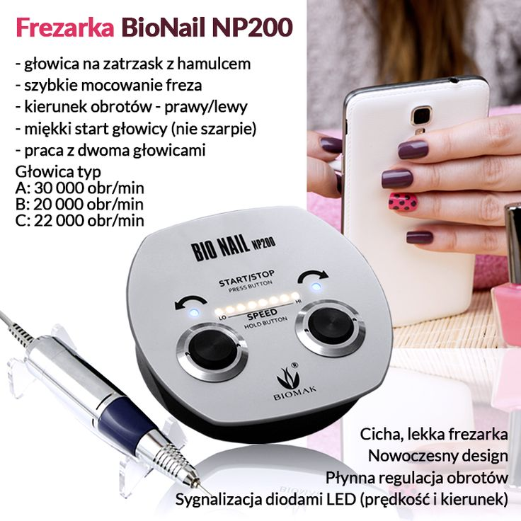 Frezarka BIO NAIL NP200 - głowica manicure C - Biomak - producent sprzętu kosmetycznego