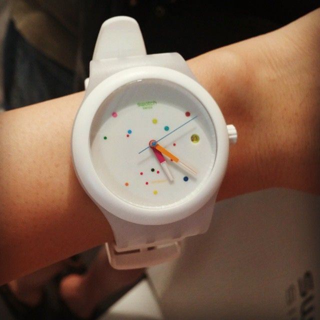 #Swatch SISTEM WHITEWatches Obsession, Swatches 스와치, Itsjinakim Jina, Instagram, Sistem White, System51Kr Swatches, Swatches Sistem, Swatches Watches, Jolie Couleur