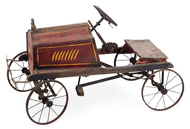 Fire Truck Pedal Car: Antique Fire Truck Pedal Car