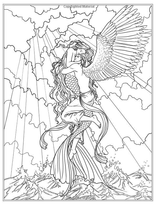 Fantasy Mermaid Coloring Pages Mermaid Coloring Pages Mermaid Coloring Book Mermaid Coloring