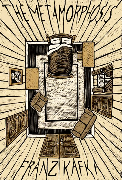 The Metamorphosis - Franz Kafka  This is an image of what the room may have looked like that Gregor lived in. Imagine being confined to this room as what may seem like the rest of your life. These walls are your new home.