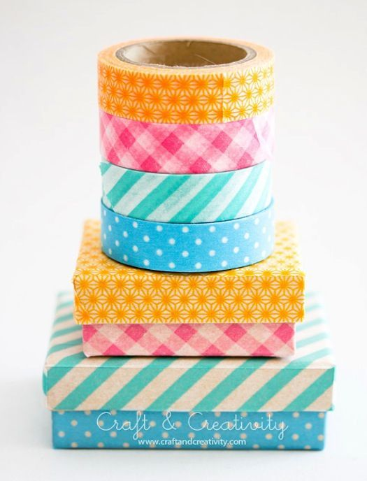 How to make washi tape boxes