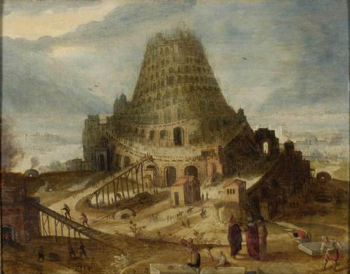 "camilotangerine:  ""Lucas van Valckenborch, The Tower of Babel, second half of the 16th century, oil on canvas, 40 x 51 cm., Musée des Beaux-Arts de Strasbourg.  """