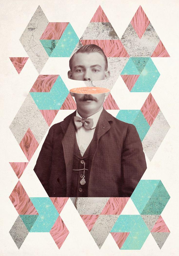 L'artiste Julia Geiser basé en Suisse, nous présente ses collages imaginaires, divers et modernes aux motifs vintage.