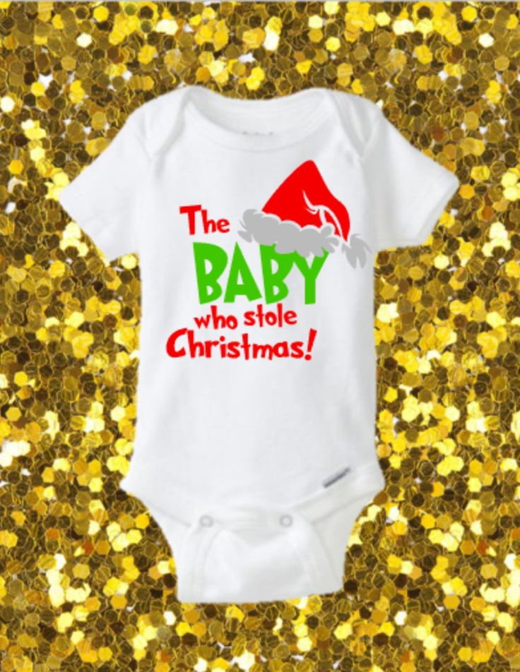 The Baby Who Stole Christmas Onesie, Christmas Onesie, Funny Onesie, Presents, Grinch Onesie, Unisex, FIrst Chritmas, Christmas Outfit by kreationsbychristine on Etsy (null)