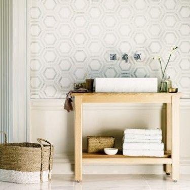 High society rockefeller bath pinterest high society for Home wallpaper fired earth
