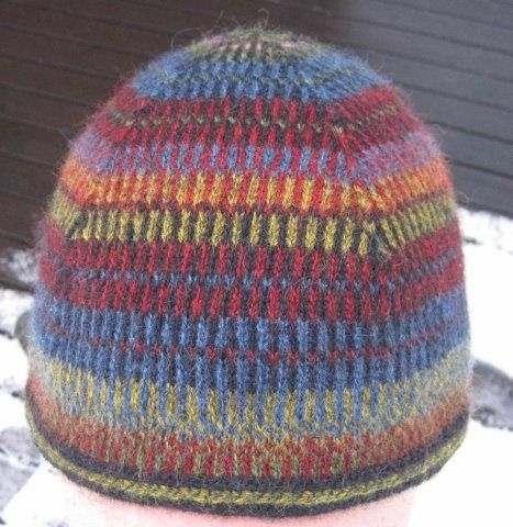 I had some yarn from Wålstedts in really nice colours. I wanted to use them but I did not know what to knit. So I decided on a cap an...
