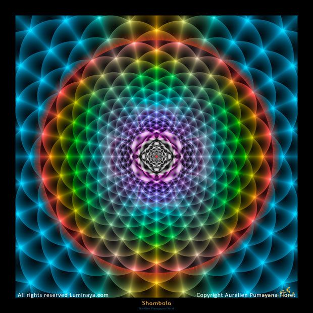 Original Mandala Shambala Spiritual Art Psy Art par Pumayana
