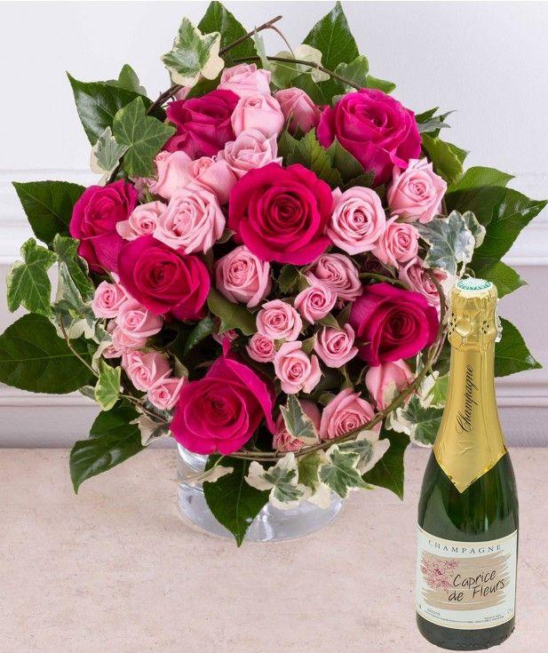 Bouquet De Fleurs Joyeux Anniversaire Elegant Cadeau Anniversaire Livraison Bouquet De Roses Et ...