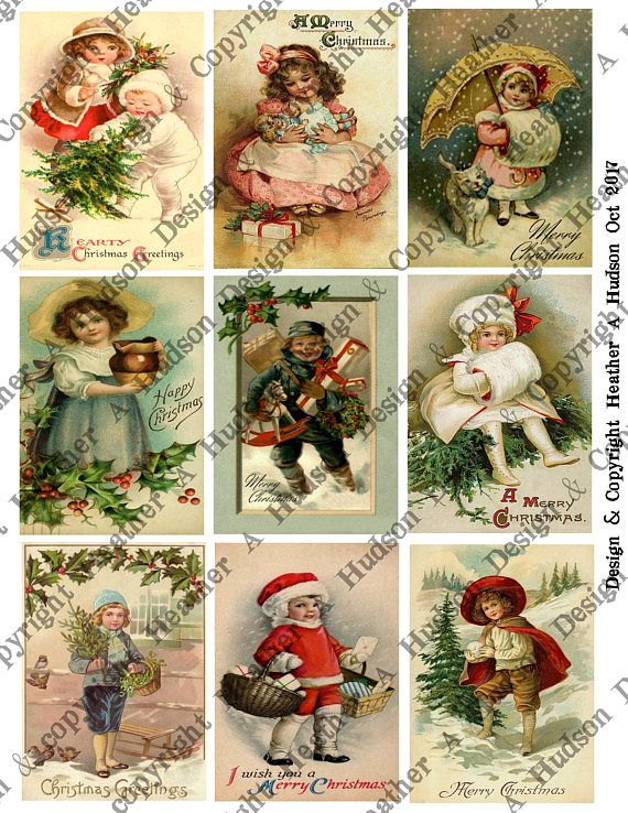 Christmas Vintage Kids 4 page Collage Sheet Set $5 in my Etsy shop here:https://www.etsy.com/listing/568862653/vintage-christmas-children-un-altered-4?ref=shop_home_active_1