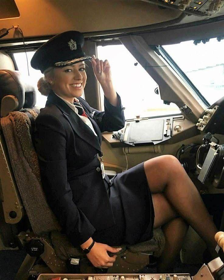 Stewardess strips on flight