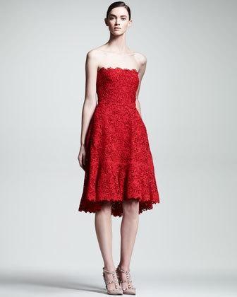 valentino voulant lace dress