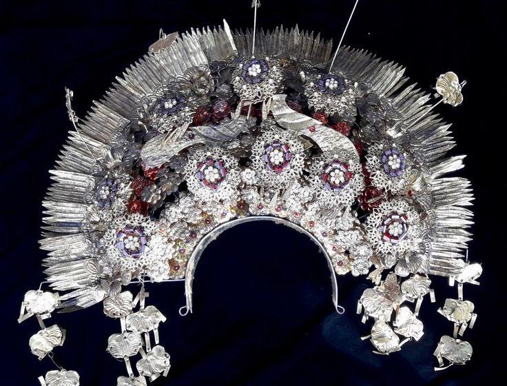 Padang Sumatra Headdress Crown Art Jewelry Adornment Wedding Ceremonial Hair Pin #Indonesianjeweler