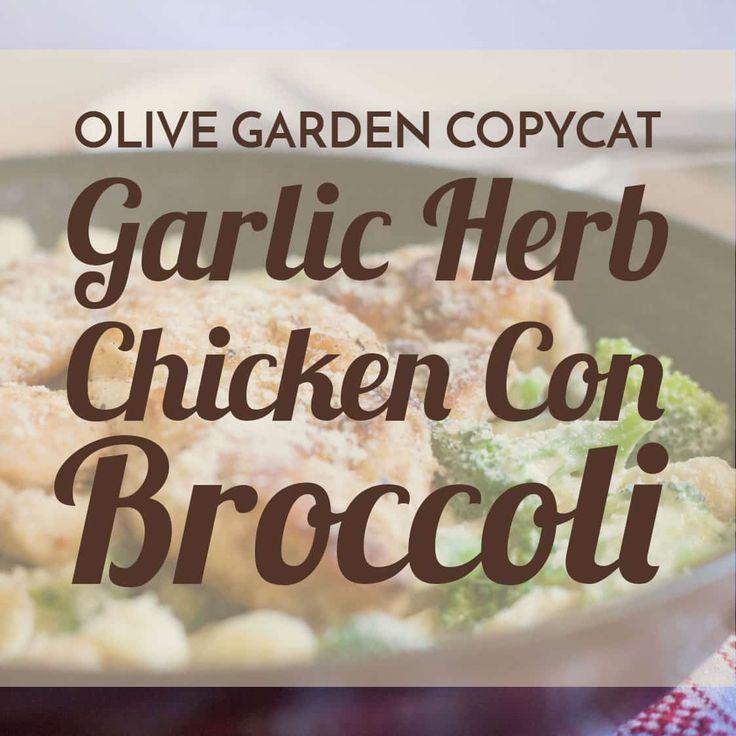 Garlic Herb Chicken Con Broccoli  Recipe  Broccoli -1545