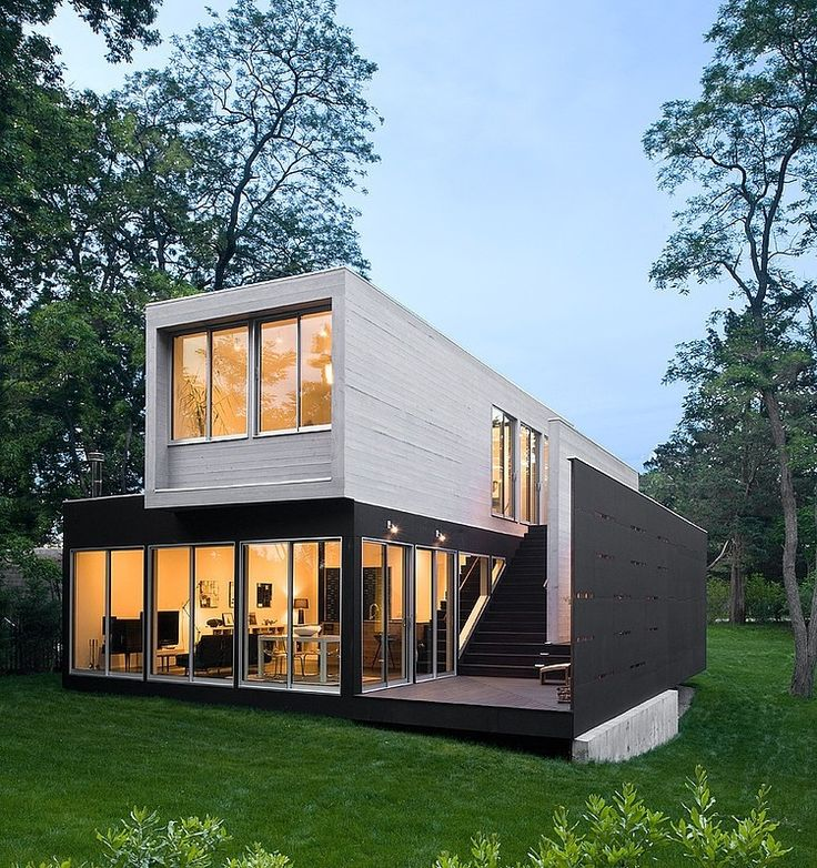 container home designers%0A Noyack Creek House by Bates Masi Architects