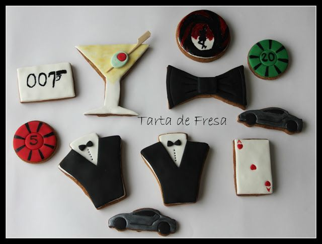 La Cocina de Tarta de Fresa: James Bond Cookies-Galletas decoradas de James Bon...