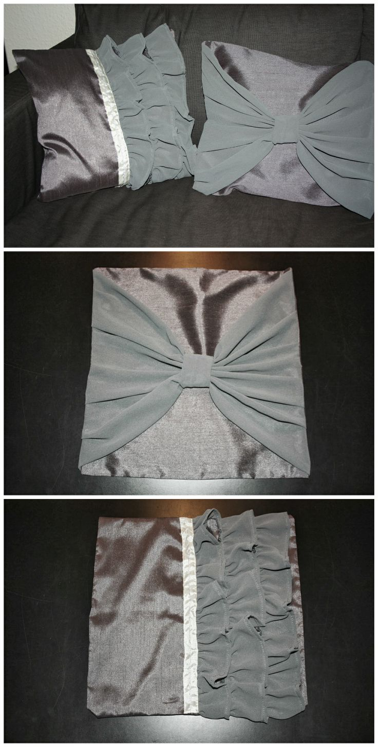 Ruffle and Bow Pillow Cases for Sarah