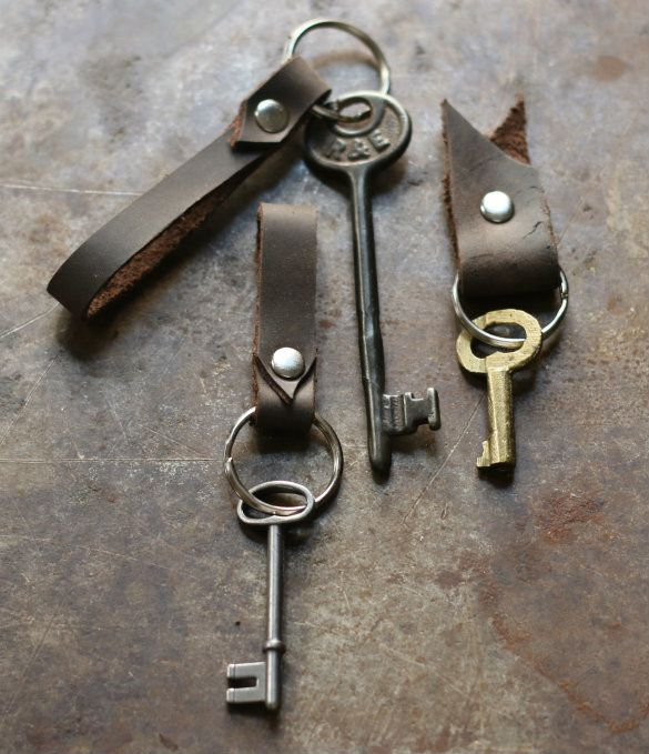 How to make DIY leather keychains
