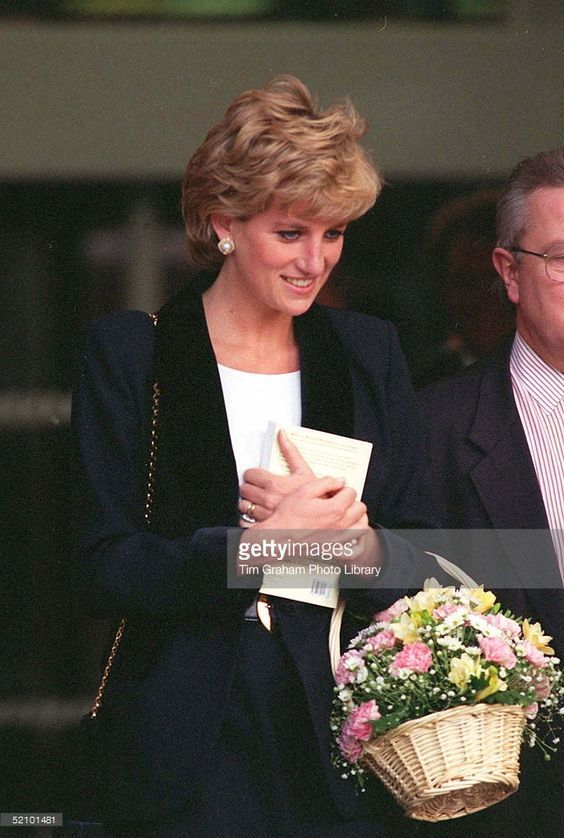 November 14 1995 Diana, Patron,Turning Point, opens the Richard Dadd Centre at Broadmoor Hospital in Crowthorne, Berkshire