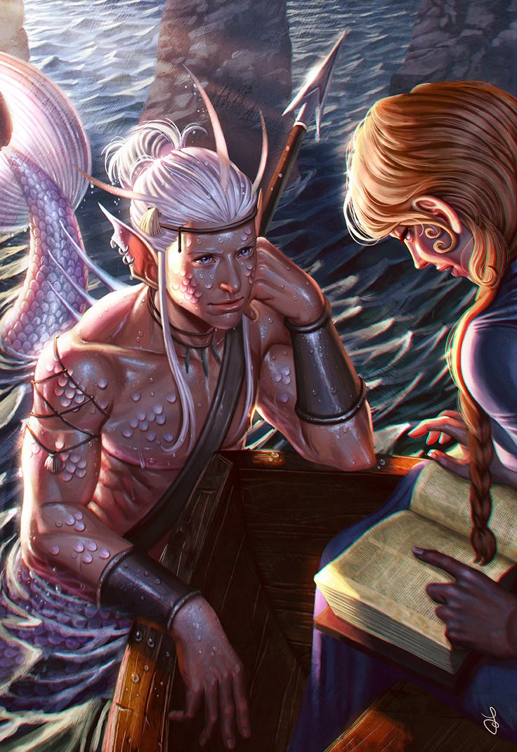 cyrail:  Merman by SaraForlenza  Featured on Cyrail: Inspiring artworks that make your day better