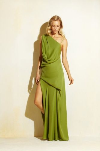 Vestido color verde limon