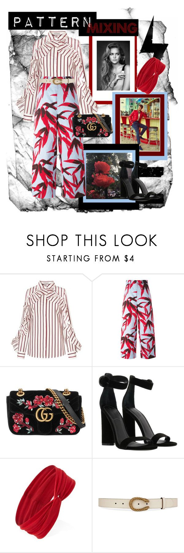 """""""Patternmixing, by sterre"""" by sterrevkaam ❤ liked on Polyvore featuring Marni, Gucci, Kendall + Kylie and Forever 21"""