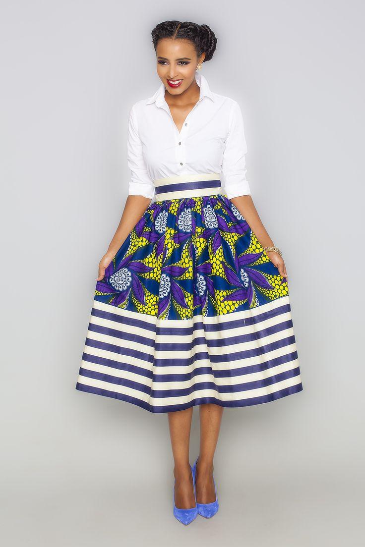 Esi Millie Striped Skirt - Kaela Kay