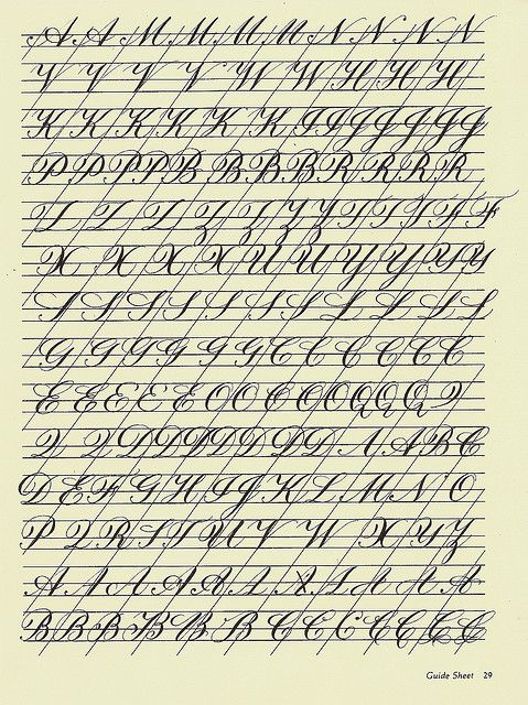 Copperplate Practice Sheet 3 | Flickr - Photo Sharing!