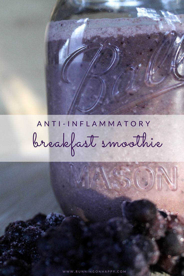 Try this Anti-Inflammatory Breakfast Smoothie. It's full of tart cherry juice, blueberries, and turmeric -- all incredible things to fight inflammation! Perfect for athletes, as well as sufferers of RA, PsA and other inflammatory diseases.