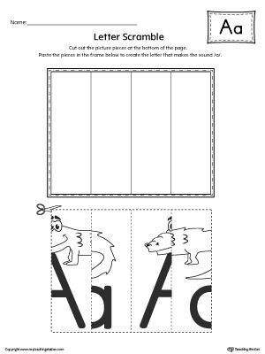 Letter A Scramble Worksheet Worksheet.Practice recognizing the uppercase and lowercase letter A shape along with it's beginning sound in this printable worksheet.