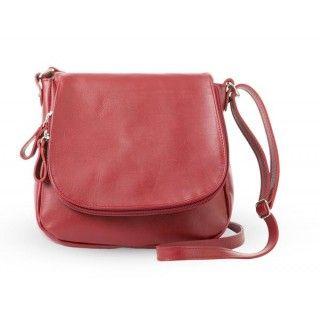 Felicia - geanta din piele naturala - rosu inchis