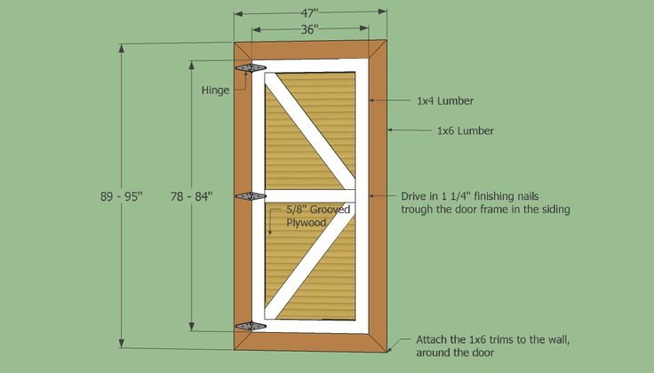 barn shed door panel ideas | ... Your Own Set Of Replacement Wooden Shed Doors Using Shed Door Plans