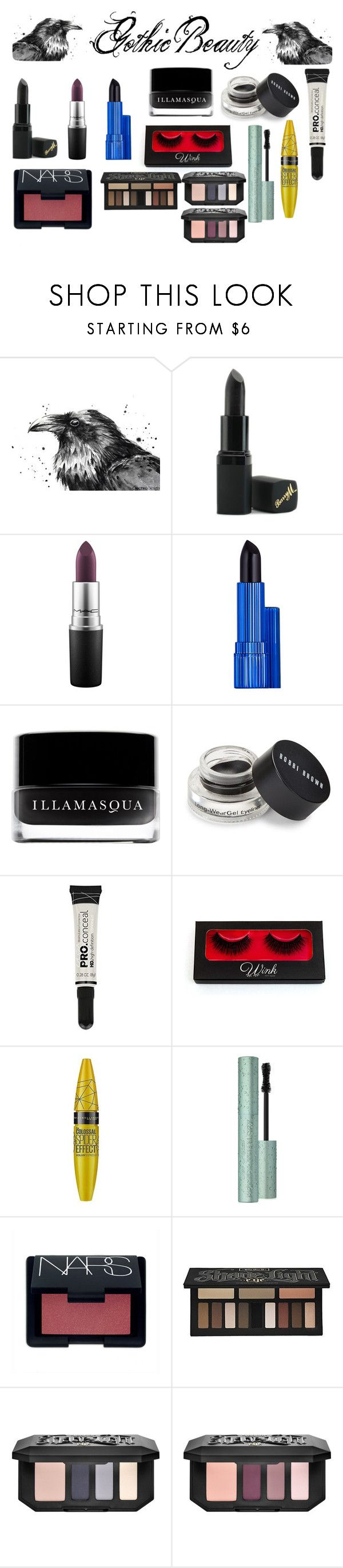 """""""Gothic Beauty Vol:1"""" by jessieholloway13 ❤ liked on Polyvore featuring beauty, Barry M, MAC Cosmetics, Estée Lauder, Illamasqua, Bobbi Brown Cosmetics, Maybelline, Too Faced Cosmetics, NARS Cosmetics and Kat Von D"""