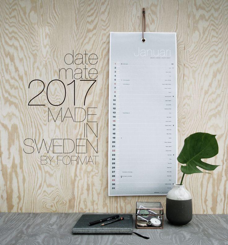 DateMate 2017 Almanacka – Formatdesign
