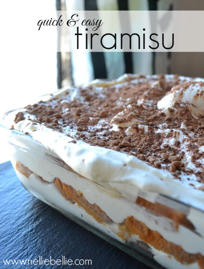 Quick & Easy tiramisu recipe. Made with pound cake and cream cheese makes this easier and less expensive! #CookinComfort