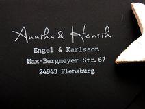 Adressstempel - Annika und Henrik