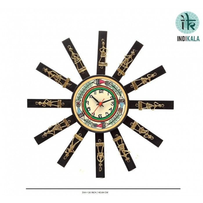 Wall clocks are the most commonly owned clocks at both home and work. This WALL CLOCK will give a glance to your wall. With this clock your wall will have a complete ethnic change.  Check our range at - http://www.indikala.com/catalogsearch/result/?q=clock  #wallclock #decor