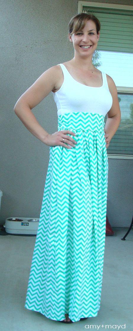 sewing a maxi dress - amy+mayd