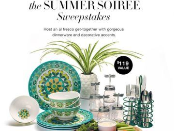 Ends 7/31/17 - Enter for a chance to win an AVON Outdoor Dinnerware Prize Package worth $119 (4 Winners)! Prize Package includes a Bamboo Tray, a Floral Melamine Dinner Plates Set of 4, a Floral Melamine Bowls Set of 4, a Utensil Holder, a Pineapple Design Ceramic Planter, and Decorative Place Card Holders !