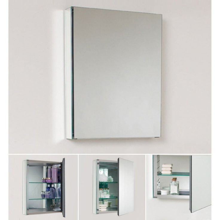 Fresca Small Bathroom Mirror Medicine Cabinet   Overstock™ Shopping   Great  Deals On Bathroom Cabinets