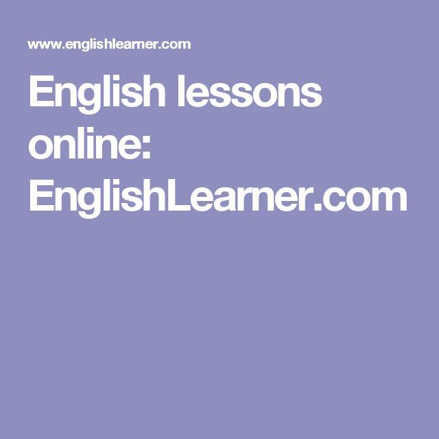 English lessons online: EnglishLearner.com