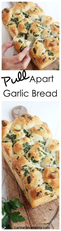Pull Apart Garlic Bread Easy and delicious homemade pull apart garlic bread. Made from scratch dough with delicious herbs. Perfect addition to every meal.