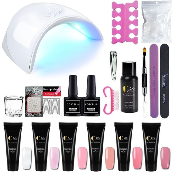 36w Uv Led Nail Lamp For Nail Dryer Poly Gel Nails Art Quick Builder Gel Extension Tools Kit Wish Led Nail Lamp Gel Extensions Gel Nail Art