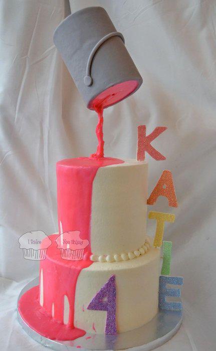 Birthday Cake To Paint